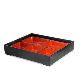 Two-Piece Rectangular Lacquer Bento Box (TW-WZ12-B-BBL)