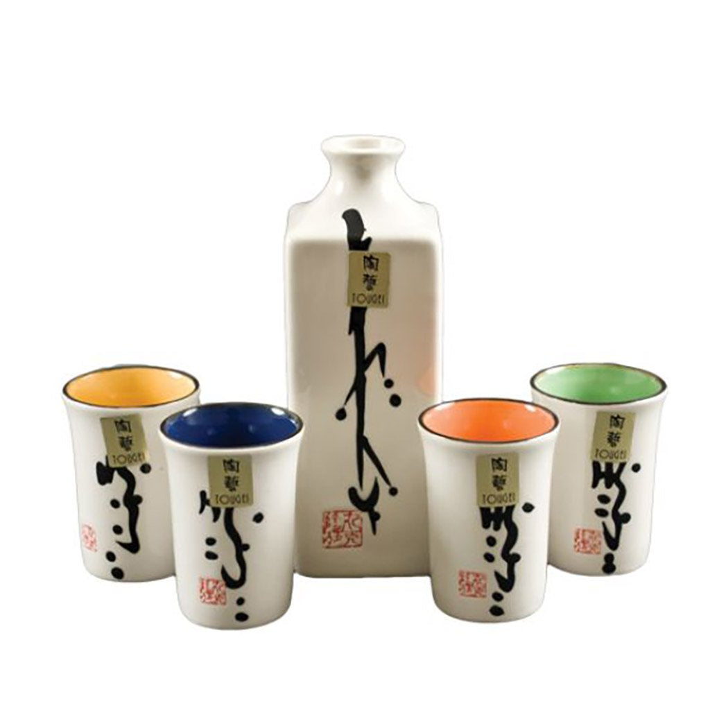 Sake Set with 4 Cups - 9 oz. (TW-X15776-BRP)