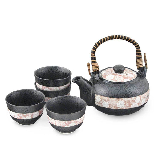 1:4 Tea Set with Wooden Handle and Strainer - 20 oz. (TW-YQ64-BC-TPP)