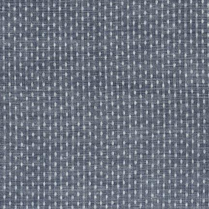 Kaufman Chambray Union Indigo Dotty