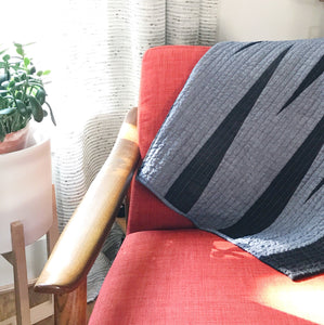"Black & Denim ""Days End"" Quilt"