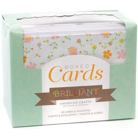 American Crafts A2 Cards with envelopes 40/Box