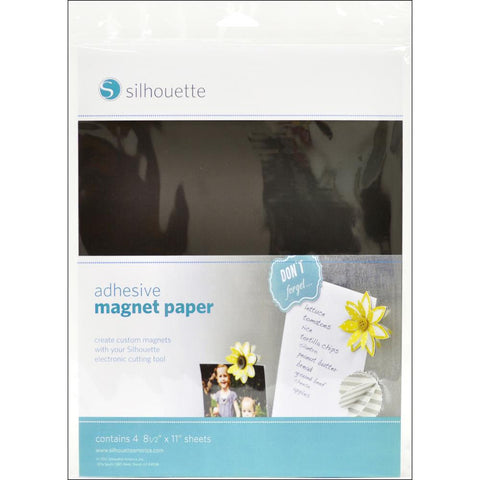 Silhouette Adhesive Magnet Paper 4/Pkg