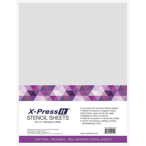 X-Press It Stencil Sheets 4/Pkg