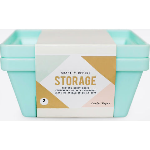 Crate Paper Desktop Storage Nesting Berry Containers 2/Pkg