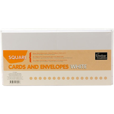 Couture Creations Square Cards W/Envelopes 50/Pkg
