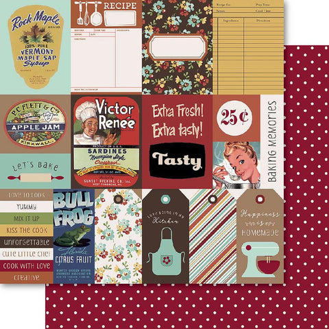 Bella! Grandma's Kitchen Double-Sided Cardstock 12X12