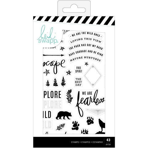 Heidi Swapp Wolf Pack Clear Stamps