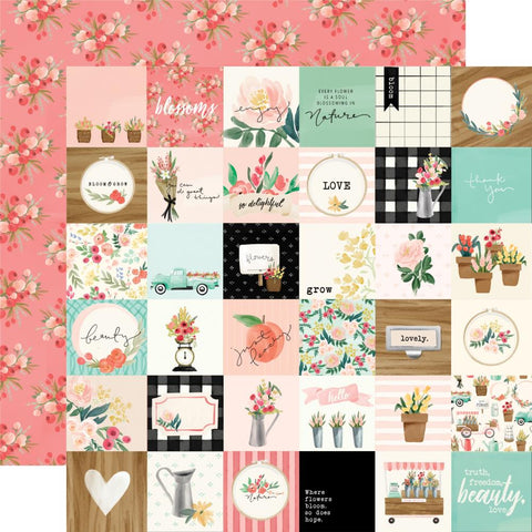 Flower Market Double-Sided Cardstock 12X12