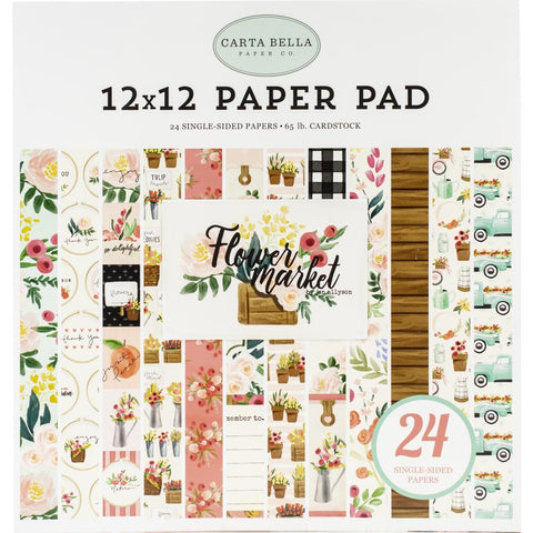 Carta Bella Single-Sided Paper Pad 12X12 24/Pkg