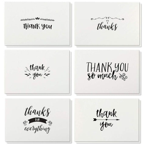 Thank You Cards & Envelopes - 48 Count