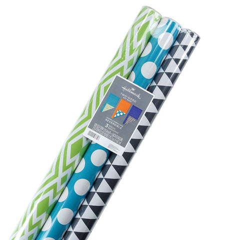 Hallmark Reversible Wrapping Paper 120 sq ft - Pack of 3
