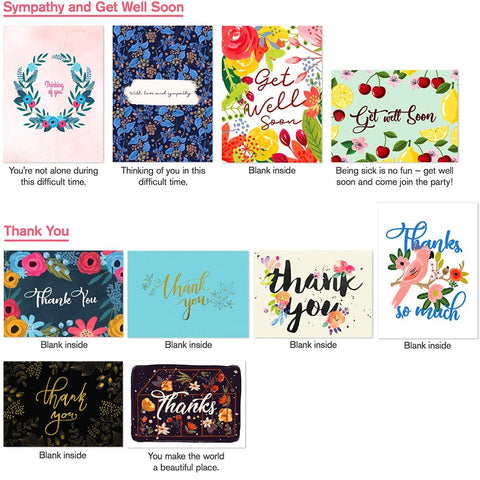 Image of Assortment Greeting Cards with Envelopes - 40 Pack