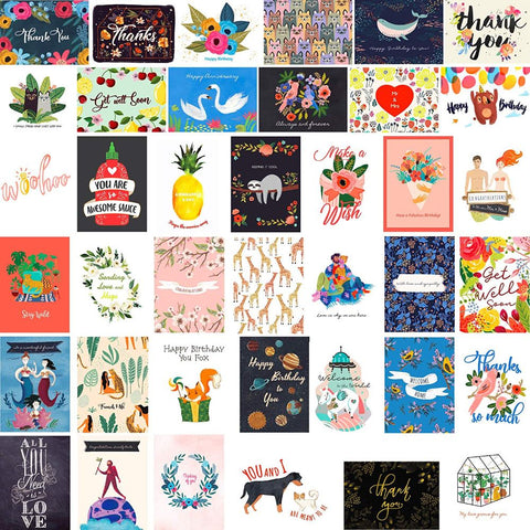 Assortment Greeting Cards with Envelopes - 40 Pack