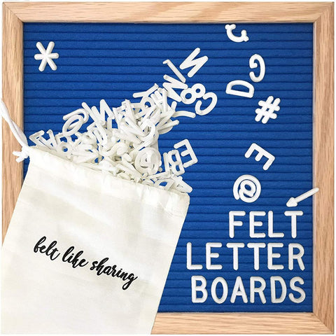 Image of Felt Letter Board with White Plastic Letters