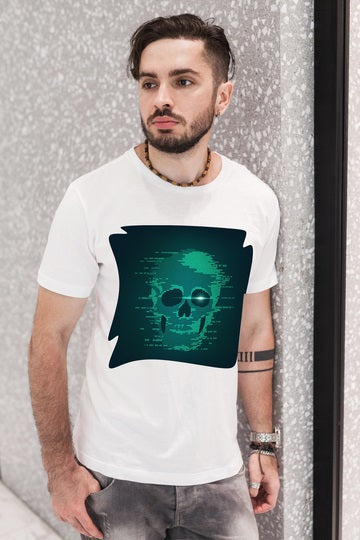 Digital Skull T Shirt