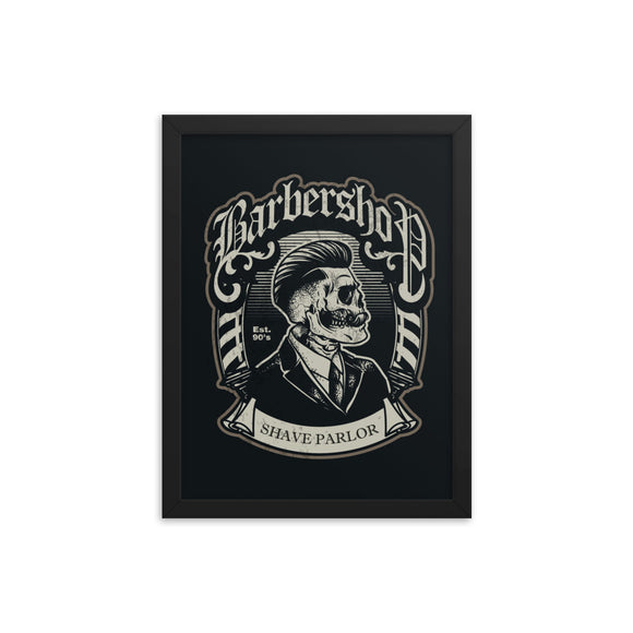 Framed poster Barbershop