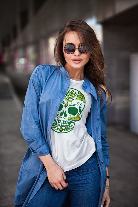 Sugar Girl Skull T Shirt