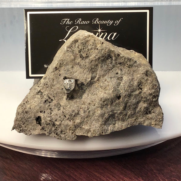 This Unique Business card holder is perfect for the office, home business or for that special someone.   This business card holder contains a Herkimer Diamond, Druzy and Calcite Crystals in Vugs in a Dolomite Matrix.  This piece was mined in Herkimer New York.  Formed over 500 millions years ago this is a one of a kind gift that cannot be duplicated.  Business Card Gap is 8mm