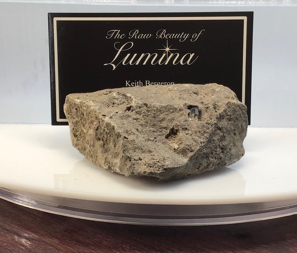 This Unique Business card holder is perfect for the office, home business or for that special someone.   This business card holder contains a Herkimer Diamond, Druzy and Calcite Crystals in Vugs in a Dolomite Matrix.  This piece was mined in Herkimer New York.  Formed over 500 millions years ago this is a one of a kind gift that cannot be duplicated.  Business Card Gap is 4mm