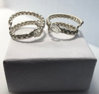 Argentium Silver Herkimer Diamond Wrap Rings. (Each purchase is for one ring.  They are shown here to show the unique raw beauty each holds.)
