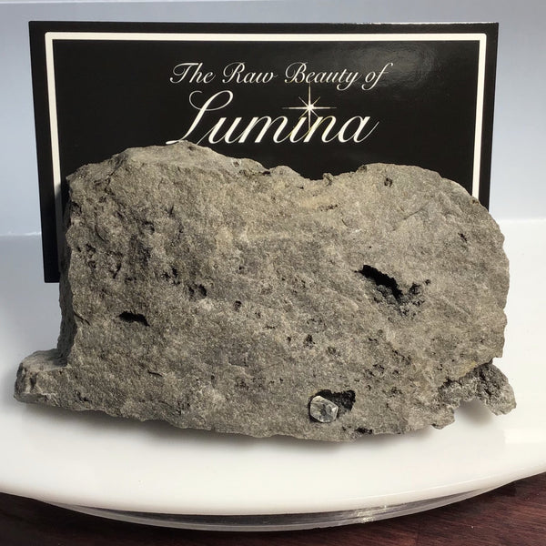This Unique Business card holder is perfect for the office, home business or for that special someone.   This business card holder contains a Herkimer Diamond and small vugs of Druzy in a Dolomite Matrix.  This piece was mined in Herkimer New York.  Formed over 500 millions years ago this is a one of a kind gift that cannot be duplicated.  Business Card Gap is 4mm
