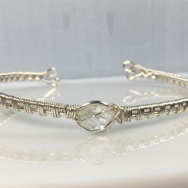 Herkimer Diamond Wire Wrapped Bracelet