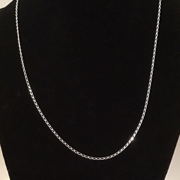 Sterling Silver Curb Chain in various sizes $5 each while supplies last