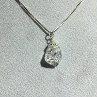 Herkimer Diamond 6.55 carat Sterling Silver Box Chain Necklace