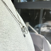 Herkimer Diamond 6.55 ct Sterling Silver Necklace