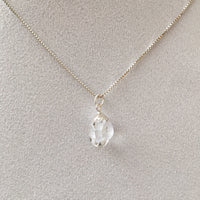 Herkimer Diamond 4.70 carat Sterling Silver Box Chain Necklace