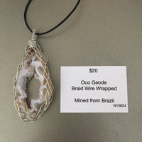 Oco Geode Wire Wrapped Necklace