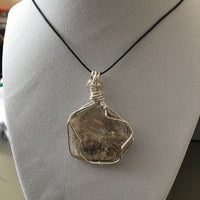 Mica & Dendrite Wire Wrapped Necklace