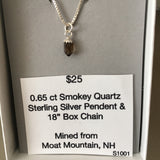 Smokey Quartz 0.65 ct Sterling Silver Necklace