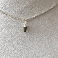 Smokey Quartz 0.65 carat, Sterling Silver Pendent and Sterling Silver Box Chain Necklace