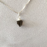 "Smokey Quartz 2.05 carat, Sterling Silver Pendent and Sterling Silver Box Chain 18"" Necklace"