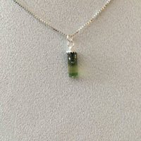Green Tourmaline 1.85 ct Sterling Silver Necklace