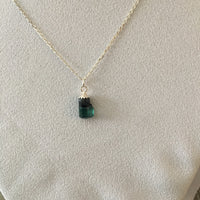Green Tourmaline 2.5 ct Sterling Silver Necklace