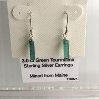 Green Tourmaline 3.0 ct Sterling Silver Earrings