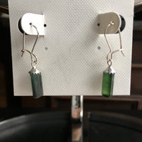 Green Tourmaline 4.3 carat Sterling Silver Earrings