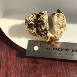 Smokey Quartz & Microcline Business Card Holder  Business Card Gap 6mm Mined in New Hampshire