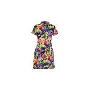LoudMouth - Women's Short Sleeve One-Piece Rainbow Jungle