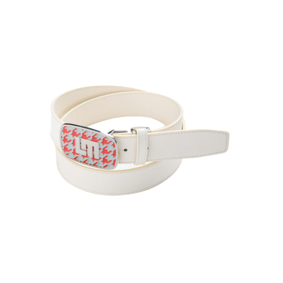 LoudMouth -Men's LM Houndstooth White Adjustable Belt