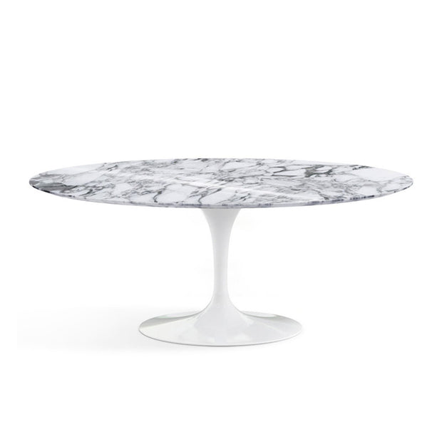 Oval Tulip Dining Table - Arabescato Marble | Eero Saarinen | Designer Furniture Replicas | M-Edition