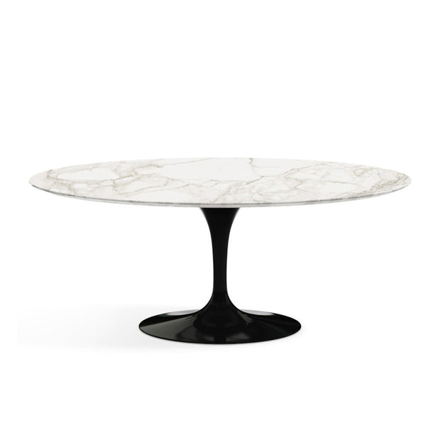 Oval Tulip Dining Table Calacatta oro Marble | Eero Saarinen | Designer Furniture Replicas | M-Edition