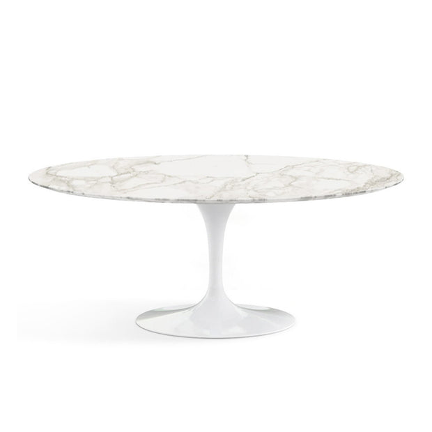 Oval Tulip Dining Table - Calacatta oro Marble | Eero Saarinen | Designer Furniture Replicas | M-Edition