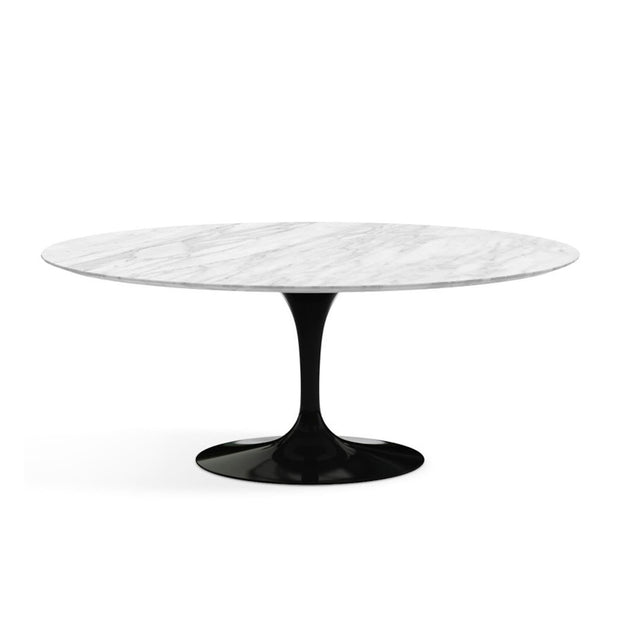Oval Tulip Dining Table Carrara Marble | Eero Saarinen | Designer Furniture Replicas | M-Edition