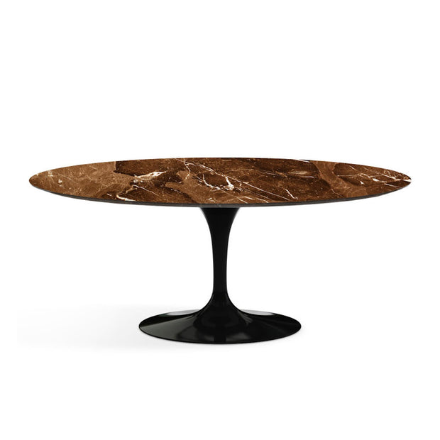 Oval Tulip Dining Table Emperador Dark Marble | Eero Saarinen | Designer Furniture Replicas | M-Edition