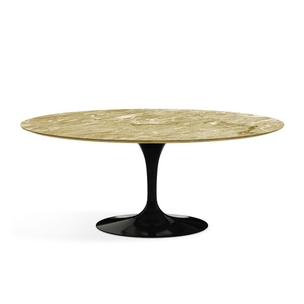 Oval Tulip Dining Table  Emperador Light Marble | Eero Saarinen | Designer Furniture Replicas | M-Edition