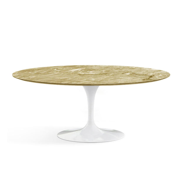 Oval Tulip Dining Table - Emperador Light Marble | Eero Saarinen | Designer Furniture Replicas | M-Edition